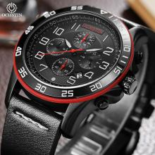 New Mens Sport Watches OCHSTIN Top Brand Luxury Chronograph  Casual Quartz Men Wrist Watch Black Military Army Clock Date Montre