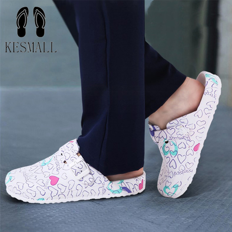 KESMALL Summer Soft Slippers For Women Surgical Medical Slippers Floral Printed Doctor Nurse Cleaning Shoes Lab SPA Salon ShoesKESMALL Summer Soft Slippers For Women Surgical Medical Slippers Floral Printed Doctor Nurse Cleaning Shoes Lab SPA Salon Shoes