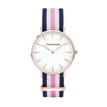 Марка Кварцевые Часы Мужчины Женщины хаки Кожаный Ремешок Наручные Часы Relojes Montre Homme CHARWENDER Наручные Часы простой стиль dw Часы