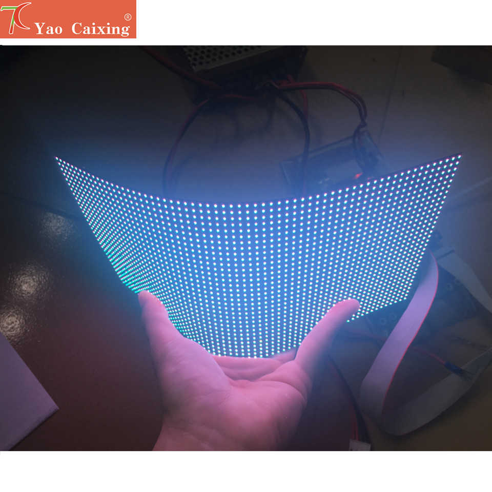 Dot matrix RGB hd p4 innen flexible led-modul smd video wand hohe qualität rgb modul weichen panel volle farbe led-anzeige