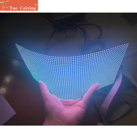 Dot matrix RGB hd p4 indoor flexible led module smd video wall high quality rgb module soft panel full color led display