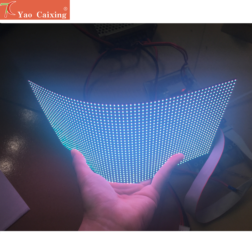 Dot matrix RGB hd p4 indoor flexible led module smd font b video b font wall