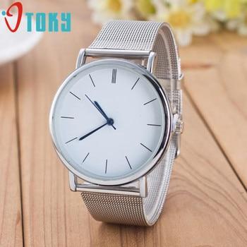 OTOKY Women Casual Silver Alloy Stainless Steel Quartz Wrist Watch P23 Drop Shipping Jul25