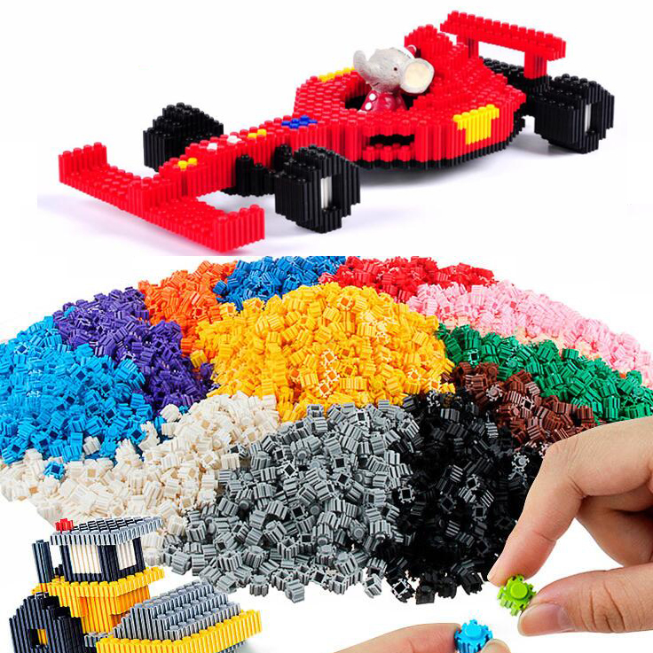 100pcs Bricks Designer Creative Blocks Child Anime Small particles Building Blocks DIY toy Bulk For Children Gift(China)