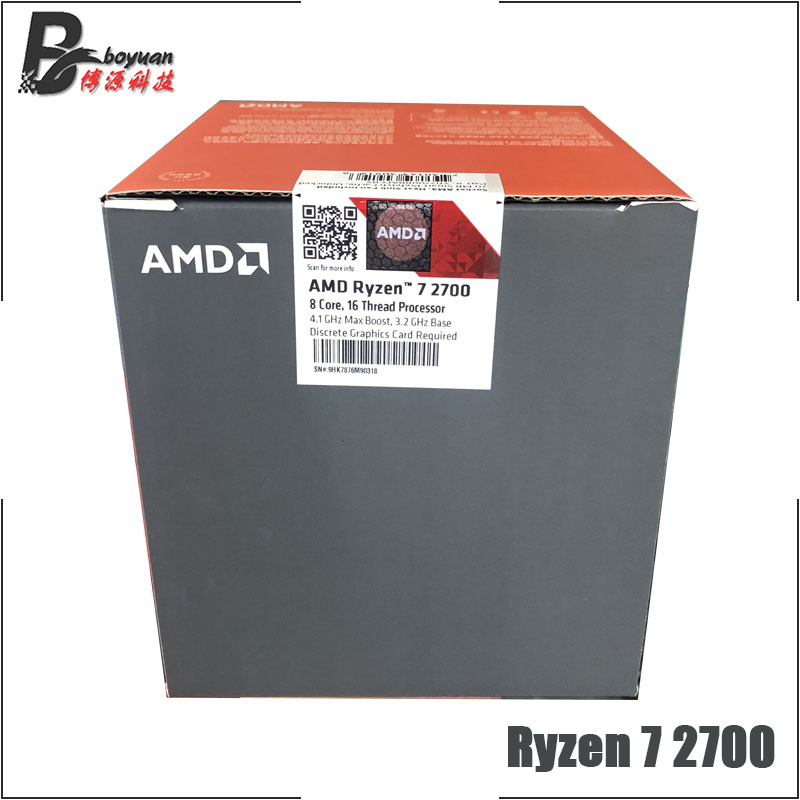 Image 5 - AMD Ryzen 7 2700 R7 2700 3.2 GHz Eight Core Sinteen Thread CPU Processor L3=16M 65W YD2700BBM88AF Socket AM4 New and with fan-in CPUs from Computer & Office