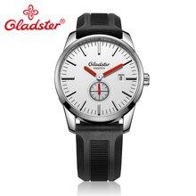 Gladster Silcone Band простой календарь Японский Miyota GP11-3H Uomo мужские наручные часы водонепроницаемые
