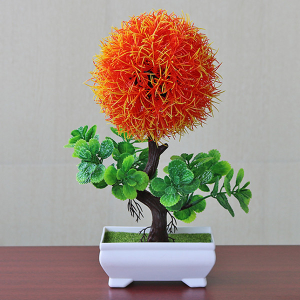 Имитация горшков растения искусственные цветы растение садовое украшение легкий Snapdragon мяч Мода - Цвет: Orange