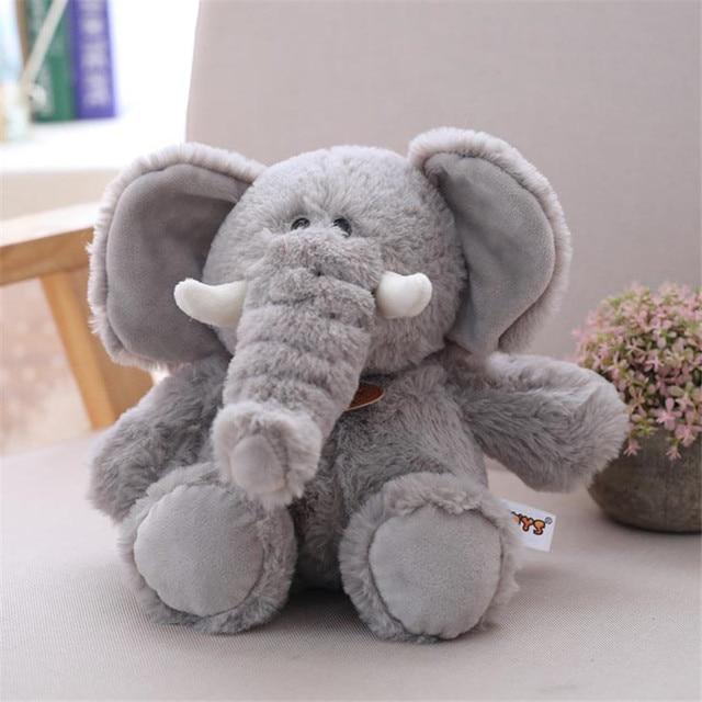 Elephant Stuffed Animal Plush Toys 4 Color Assorted 30cm 40cm