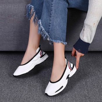 casual shoes women platform  Fashion Flats Loafers Casual Breathable Slip Shoes Lazy shoes Sneakers#NFA slip-on shoe