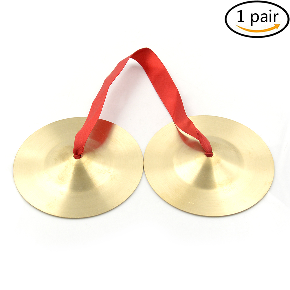 1pair Mini Cymbals Music Toys Copper Cymbals Musical Orff Instruments