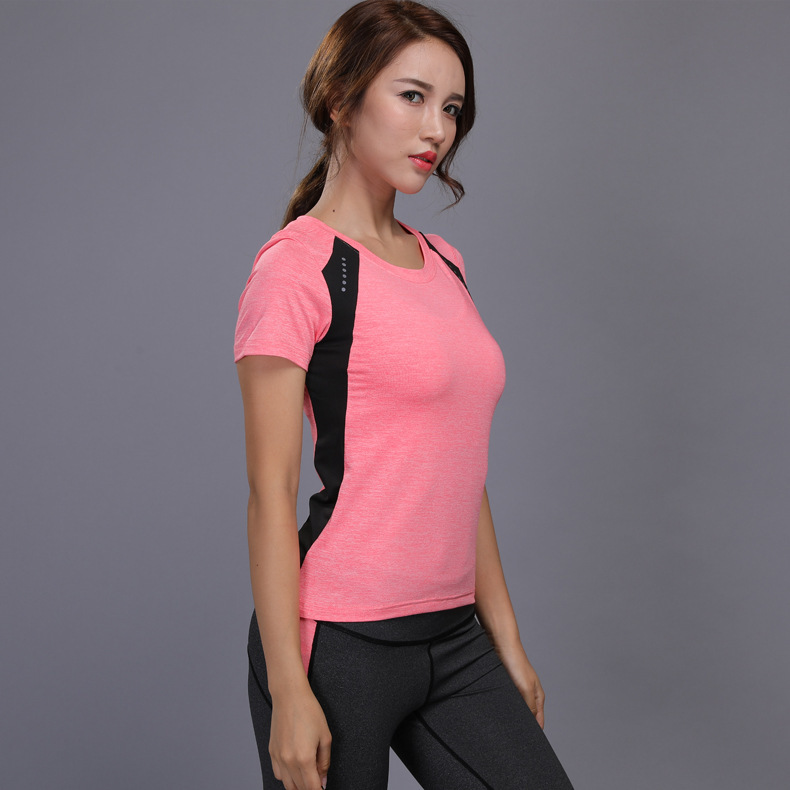 Camiseta feminina esportiva fitness, camiseta com elástico