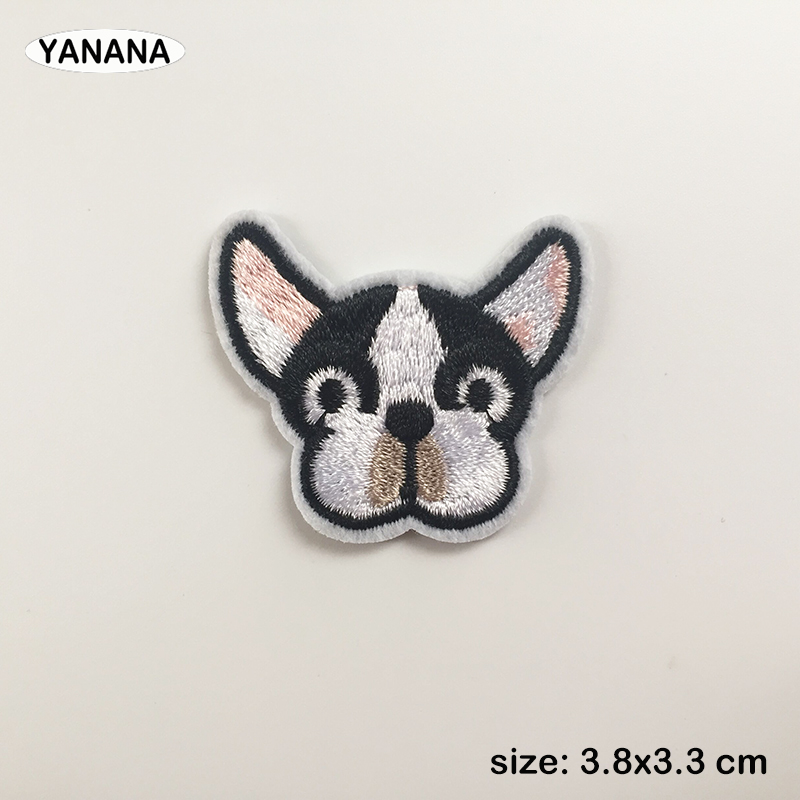 Many dog puppy Animal Head Patchwork Patch Embroidered Patches For Clothing Iron On For Shoes Bags Embroidery in Patches from Home Garden