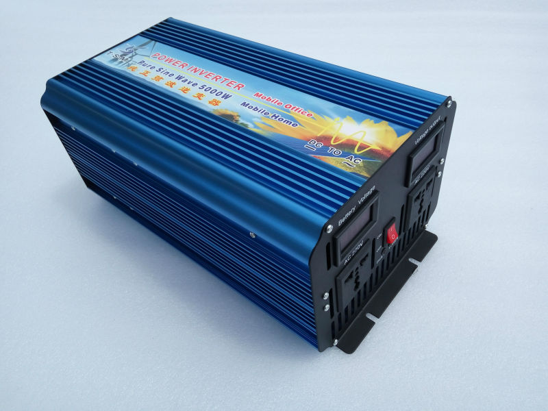 цена на 5000W(10000W Peak) off grid Pure sine wave Solar inverter 12V/24V/48V DC to 110V/120V/220V/240V AC
