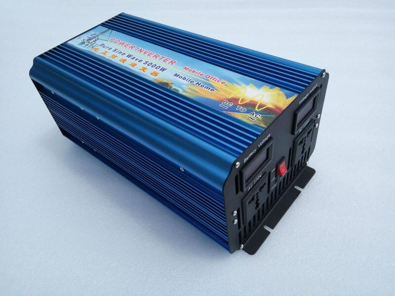 5000W(10000W Peak) off grid inverter. Pure sine wave inverter. Solar  inverter. 12/24/48V DC to 100/110/120/220/230/240V AC.
