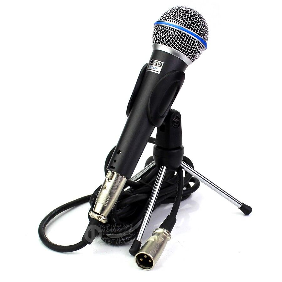 все цены на BT58A Professional Handheld Vocal Dynamic Microphone Stand Desktop Mic Holder With XLR Audio Cable For BETA58A DJ Mixer Karaoke онлайн