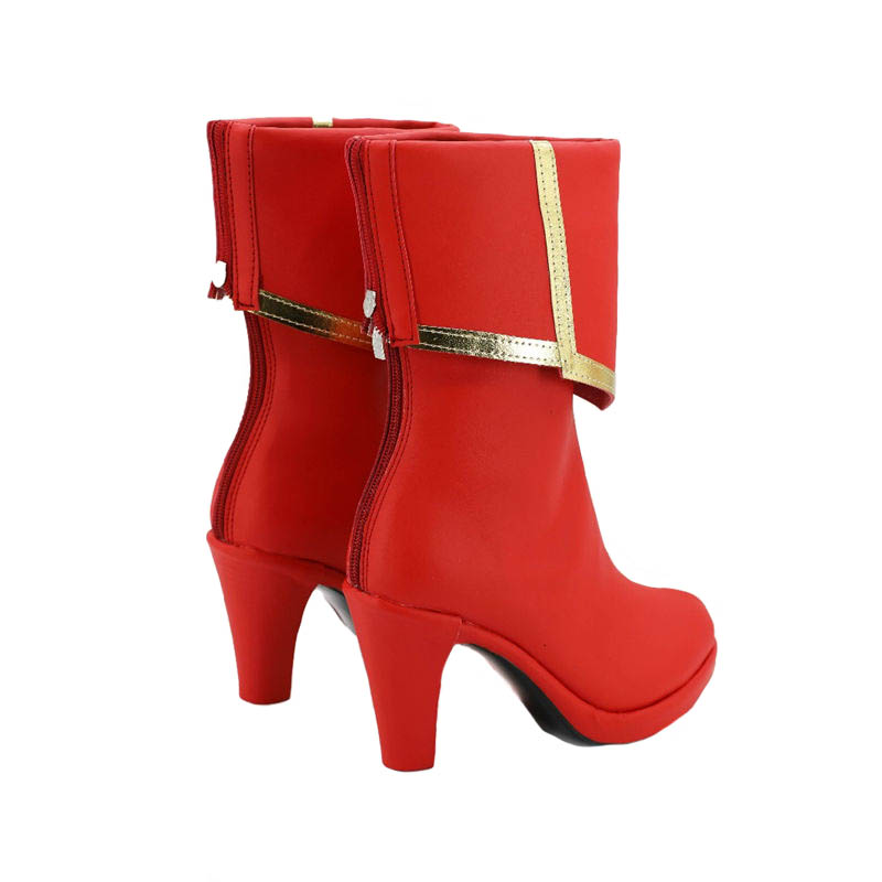 FGO Fate Grand Order Saber Mordred Custom Shoes Boots Red Cosplay Costume Cos :