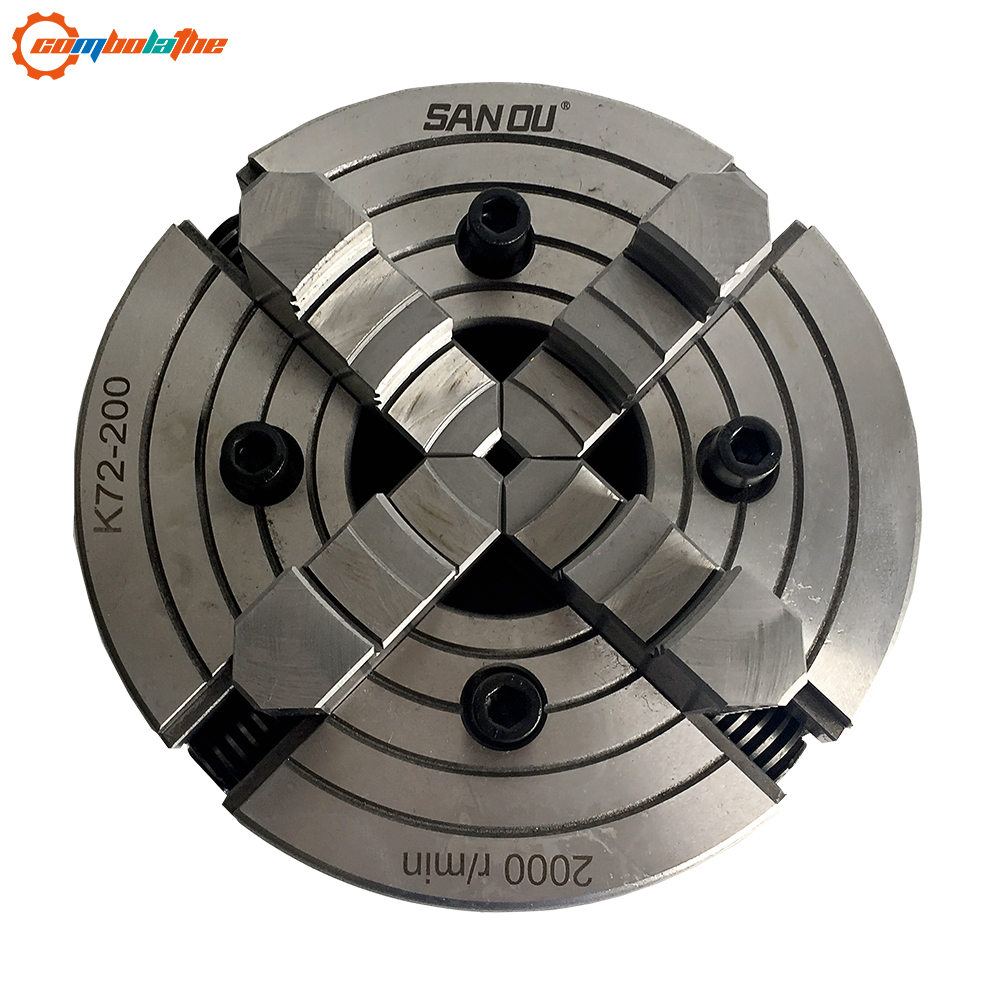 SAN OU brand 4 jaw lathe chuck independent chuck lathe 200mm 8 inch K72 200 for