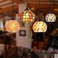 Pastoralen stil Mittelmeer anhänger leuchtet einzigen kopf kleine kreative Café eingang flure restaurant lampe gang lampe DF28-in Pendelleuchten aus Licht & Beleuchtung bei