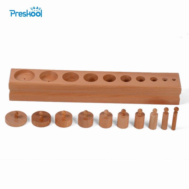 Bébé Jouet Montessori Unique Cylindre 3 Sensorielles Préscolaire Formation de La Petite Enfance L'éducation Brinquedos Juguetes