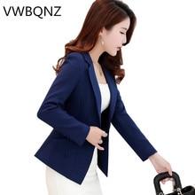 Plus size 3XL Women Blazer Coat Fashion Spring Slim Long Ele