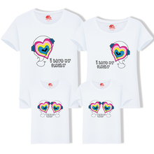 2019 Summer Family Look Headset T Shirts More Colors Summer Family Matching Clothes Mom & Dad & Son & Daughter Cartoon Outfits
