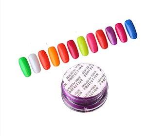 Image 5 - Poudre à ongles, Pigment néon, pour décoration des ongles, 12 couleurs/ensemble