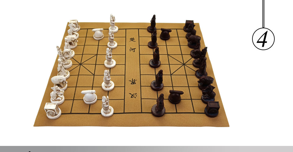 Easytoday Chinese Chess Games Set High-quality Synthetic Leather Chessboard Traditional Retro Chinese Table Entertainment Games Gift (4)