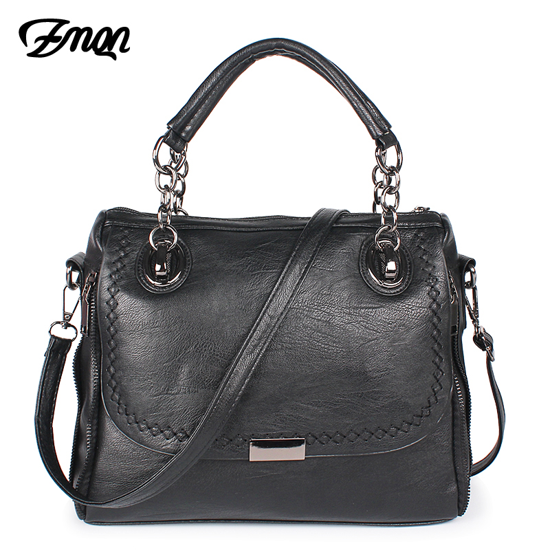 ZMQN Women Shoulder Bags Famous Brand Black Female Designer Handbags High Quality Soft Leather Cross Body Bag Handbag China A818 2016 new fashion cross body bag genuine leather brand handbag soft shoulder bag designer chain high quality bag for women