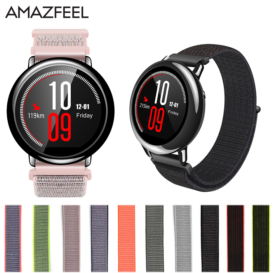 Nylon Band For Xiaomi Huami Amazfit Stratos Pace Strap Smart Accessories for Amazfit Watch 1 2 strap Replacement Band original replacement strap for xiaomi huami amazfit sport smart watch original replacement wristband for xiaomi huami amazfit