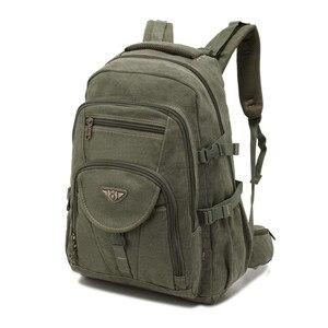 Image 3 - AERLIS projekt mężczyźni plecaki płótno College torba na Laptop odkryty piesze wycieczki nastolatek wojskowy podróży duża Cmping plecak mężczyzna 9118