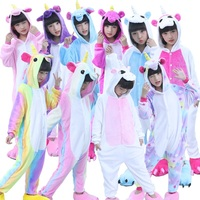Children Kids Flannel Animal Pajamas Anime Cartoon Costumes Sleepwear Cosplay Onesie Lion Panda