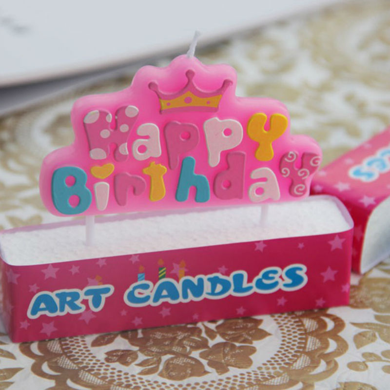 Wholesale Birthday Candles And Letters Of The Crown Candle Blue Pink Two Colors Optional Party Cake Decorations In From Home Garden On