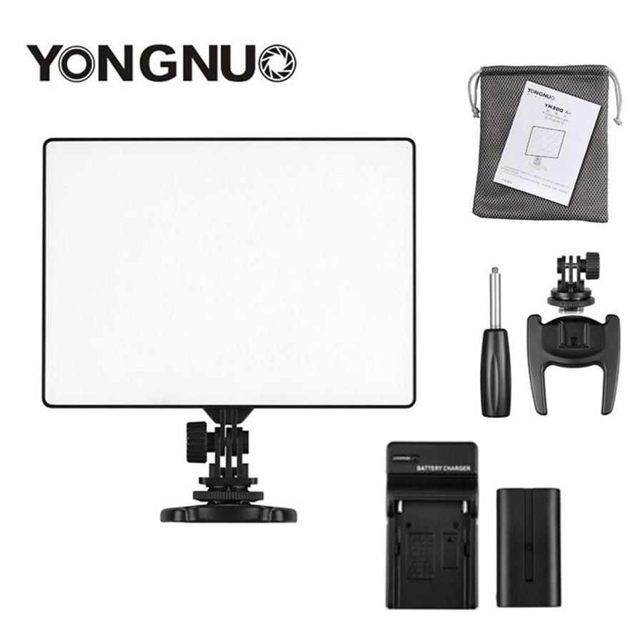 YONGNUO YN 300 YN300 Air Camera LED Video Light Panel On Camera 3200K 5500K with Battery