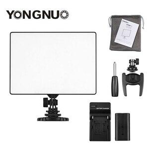 Image 1 - YONGNUO YN 300 YN300 Luft Kamera LED Video Licht Panel Auf Kamera 3200 karat 5500 karat mit Batterie Ladegerät für canon Nikon Live Stream