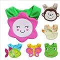 Unisex Linda Recém-nascidos de Desenhos Animados Tigre/Leão/Macaco/Gato Criança Bebê Impermeável Saliva Toalha de Algodão Do Bebê Babadores Burp panos de 24 cores