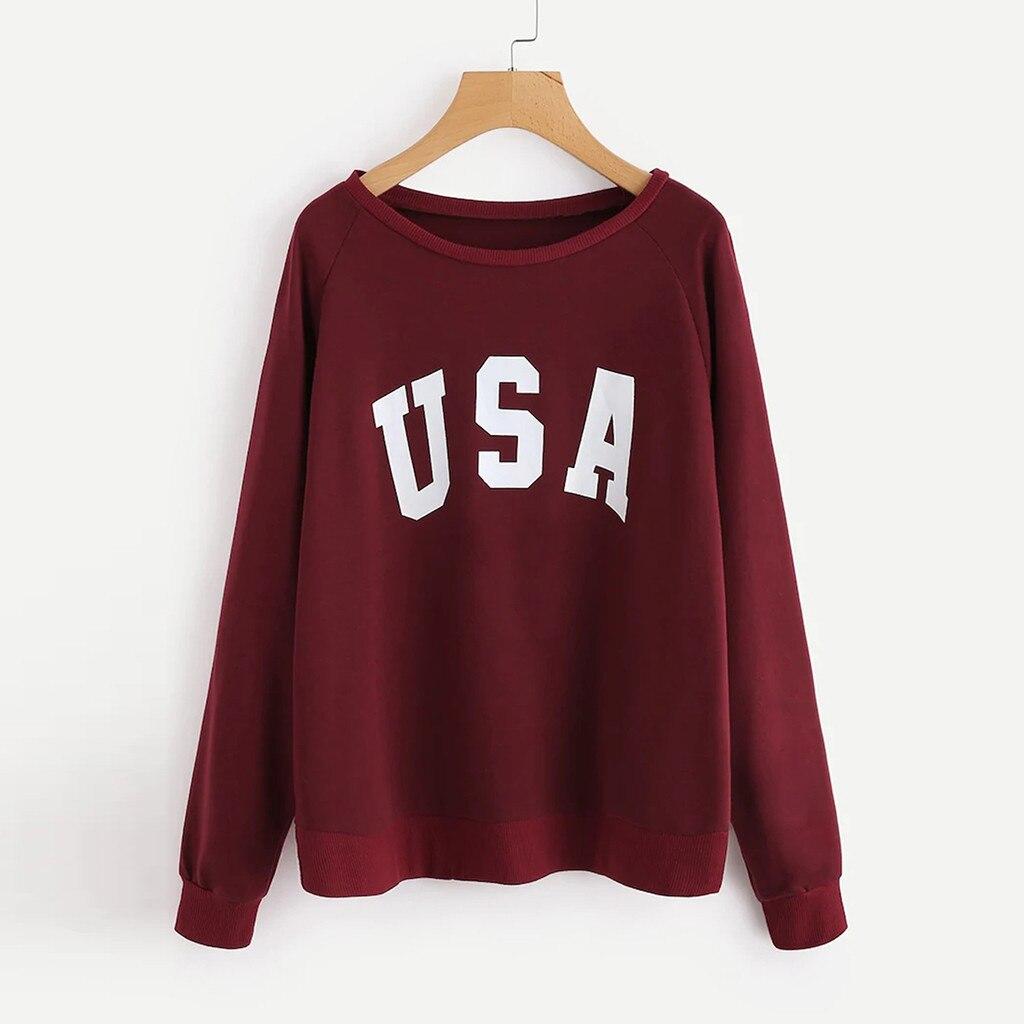 Hoodies Womens Fashion Autumn harajuku clothes Tops Print USA Hooded sudadera mujer gothic Loose rock moletom