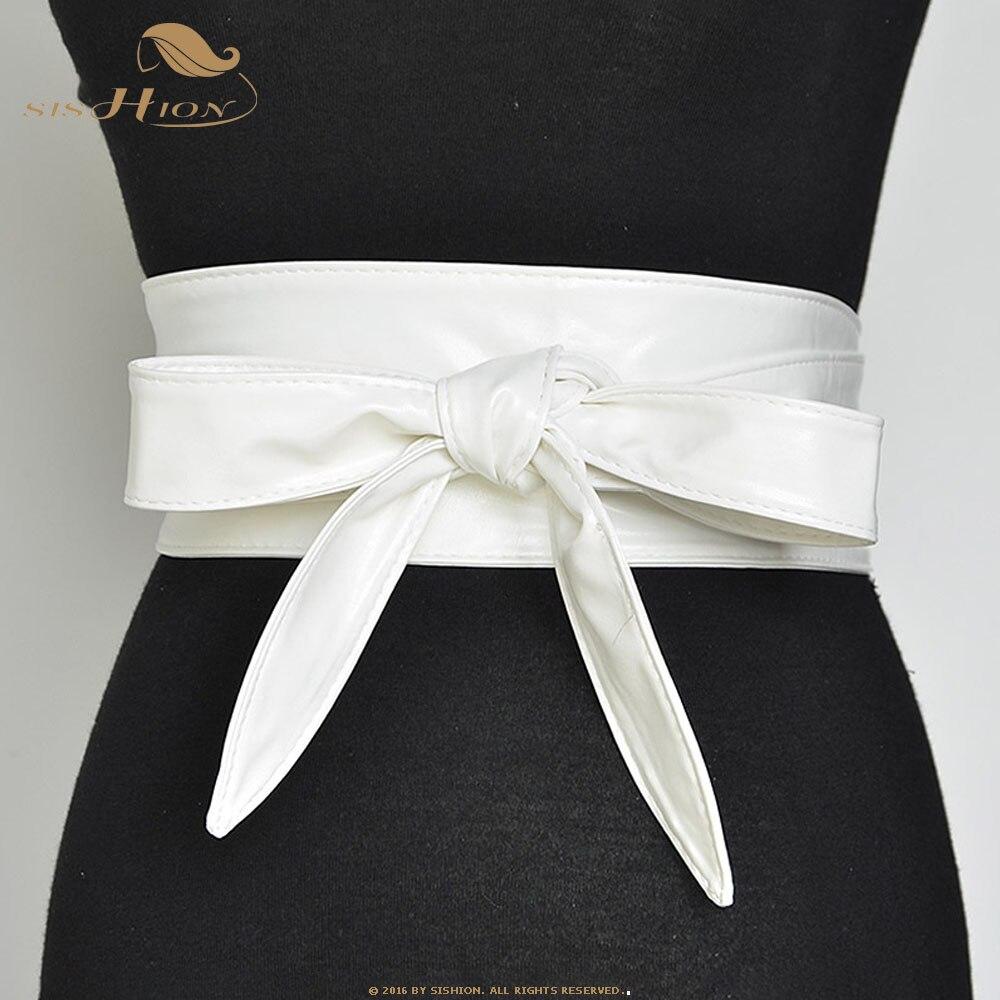 SISHION Women Corset Belts For Ladies QY0245 Black Yellow Red Wide High Waistband For Dress Waist Belt Cummerbunds