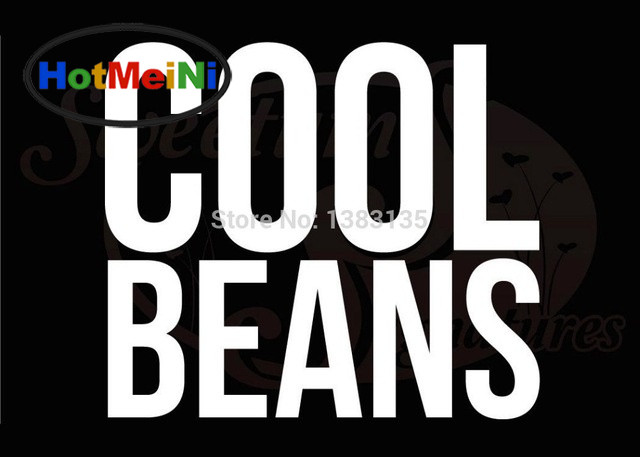 HotMeiNi Cool Beans Personalized Funny Humor Hand-carved Art Car Sticker Truck Window Bumper Laptop Motorcycle Prank Vinyl Decal