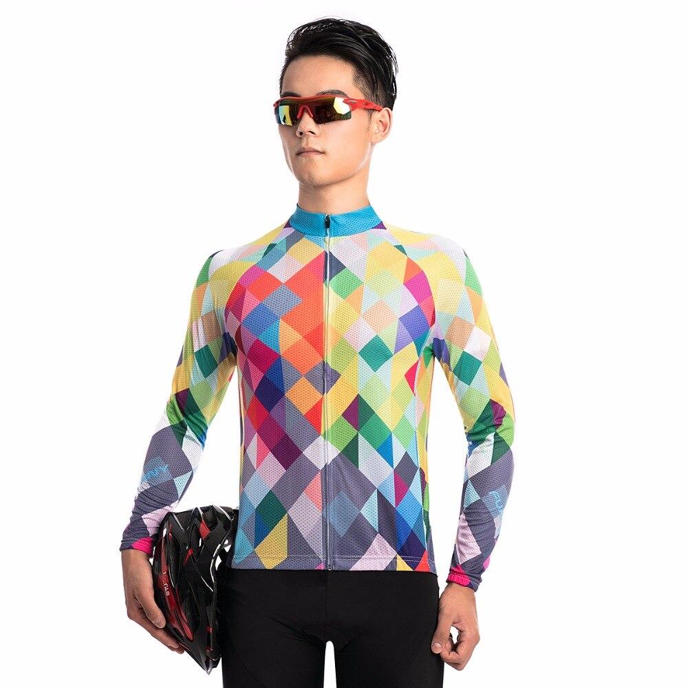 Fualrny 2018 Long Sleeve Jersey Pro Cycling Jerseys Men Bicycle Clothing Mtb Cycling Equipment Cycling Clothing Sportwear