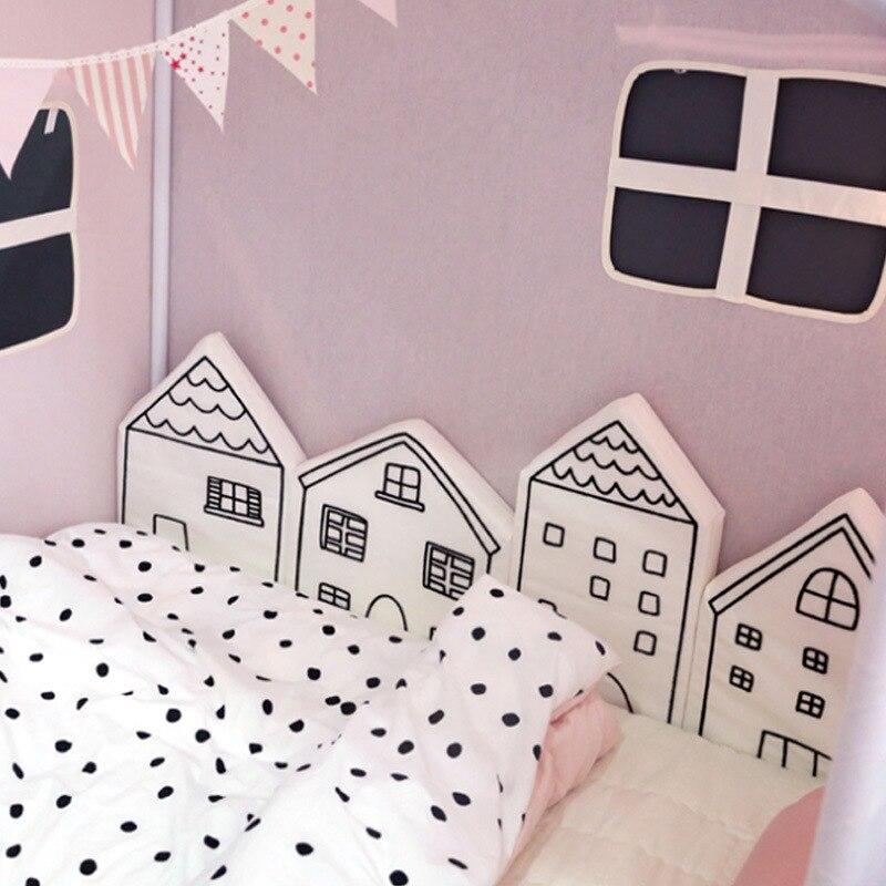 4 шт./компл. Nordic Детская кровать бампер младенческой кроватки подушки детские протектор новорожденных Cot вокруг подушки для девочек и мальчи...