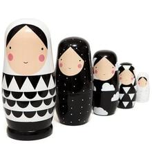 5 шт. в наборе, русские Матрешки, деревянная матрешка, ручная роспись, складные куклы, коллекционная игрушка, 5 дюймов высотой 5,5*12,5 см