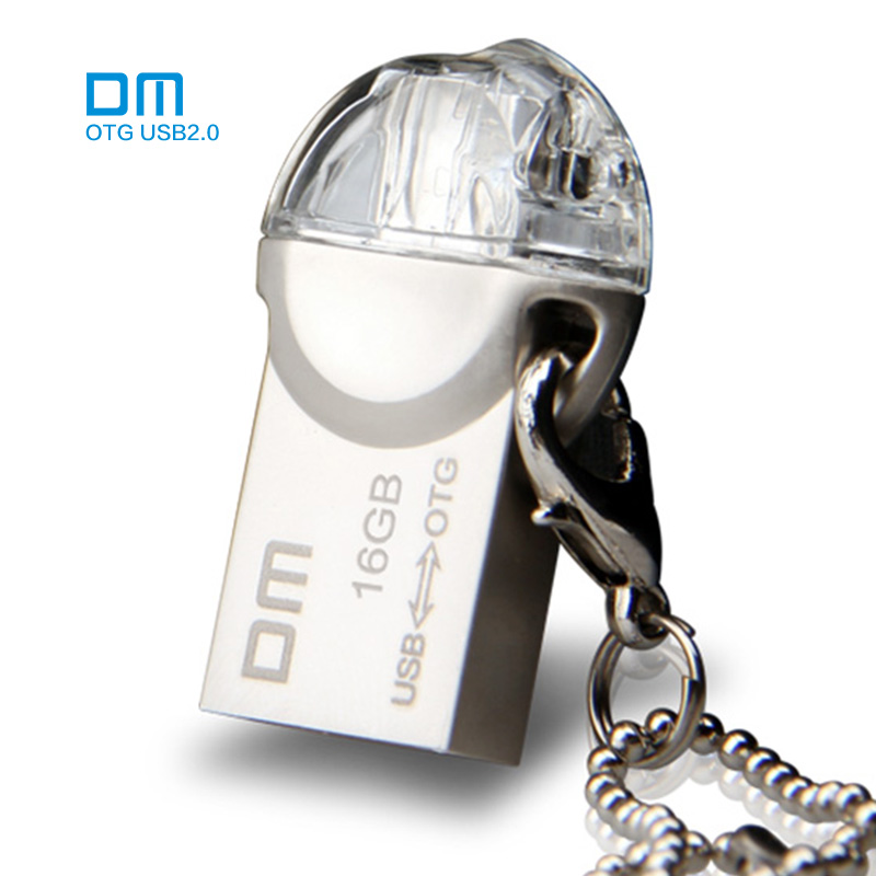 OTG USB Flash drive PD002 8GB 16GB 32GB USB2.0 with double connector used for OTG smartphone and computer 100% waterproof