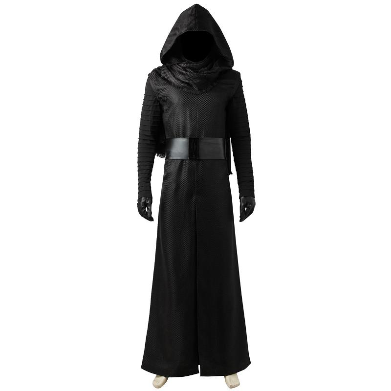 New Year Star Wars The Force Awakens Kylo Ren Black Cosplay Costumes Mask Jedi Knight Long Robe Cloak For Men Custom Halloween
