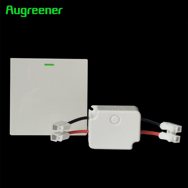 Augreener New Wall Light Switch Battery-free 70 m Long Range Button Waterproof AC 100V-240V Remote Control Home Wireless Switch augreener wall switch self powered wireless remote control light no cabling for installation battery free cordless switch