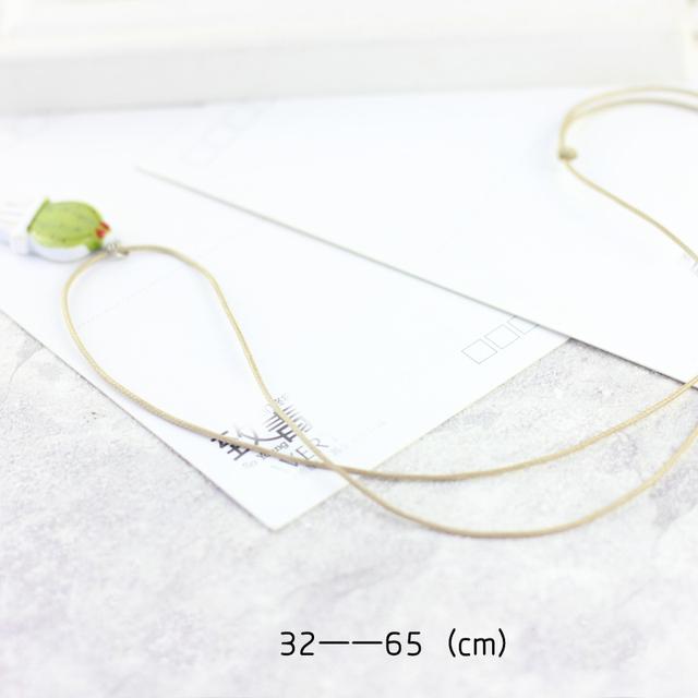 Green Cactus Collarbone Necklace