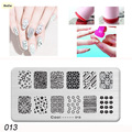 BlueZoo 1 Sheet Nail Tool DIY Nail Art Decoration Stamping Template Nail Plates Stainless Steel Template Stamping Polish Stencil
