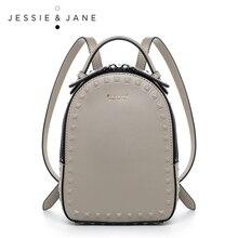 JESSIE & JANE Damenmode Niet Design Split Leder Rucksack Frauen Casual Daypacks 1825