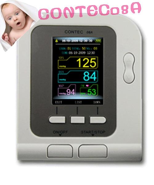 CONTEC08A with neonatal SPO2 probe Review Digital Automatic NIBP baby BP Monitor Child Sphygmomanometer недорого