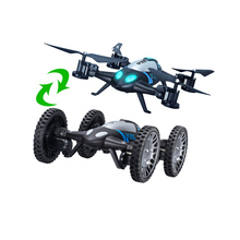 Lishitoys L6055 2in1 Land&Sky RC Quadcopter Flying Car 2.4G 4CH 6Axis Helicopter Drone Remote Control Toys As Kid Fun Gift