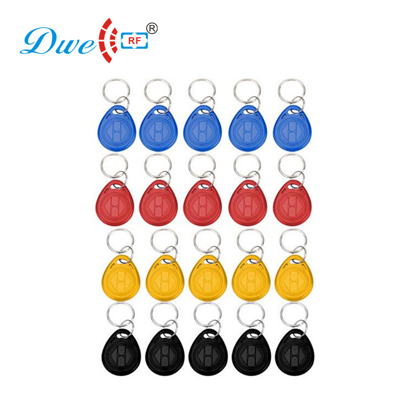 DWE CC RF access control card duplicator key 125khz water proof rfid tag duplicator keyfobs writable key fobs